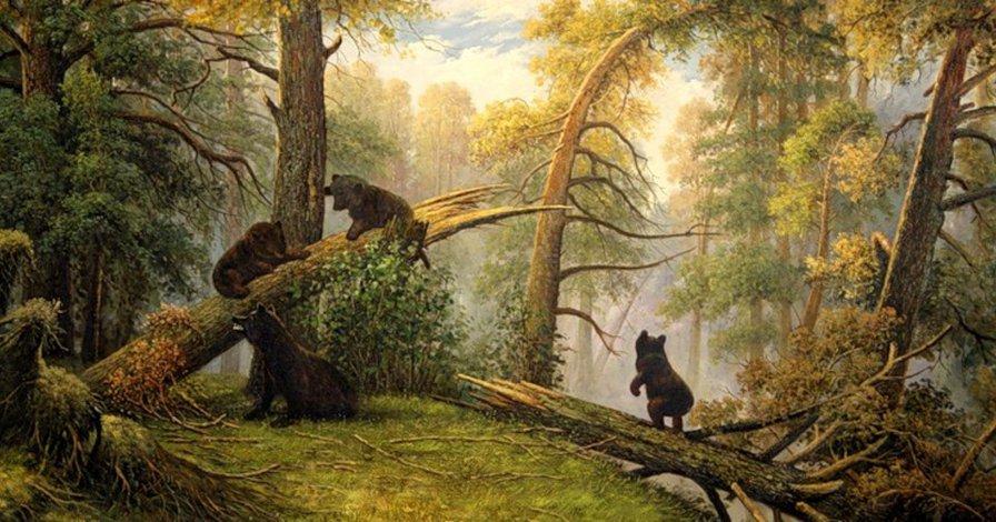 Медвежата рисунок